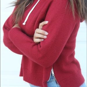 Red Sweater w/ Zippers & Hoodie ♡